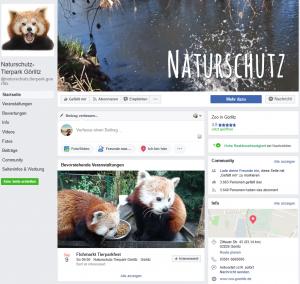 Facebook-Auftritt vom Tierpark Görlitz